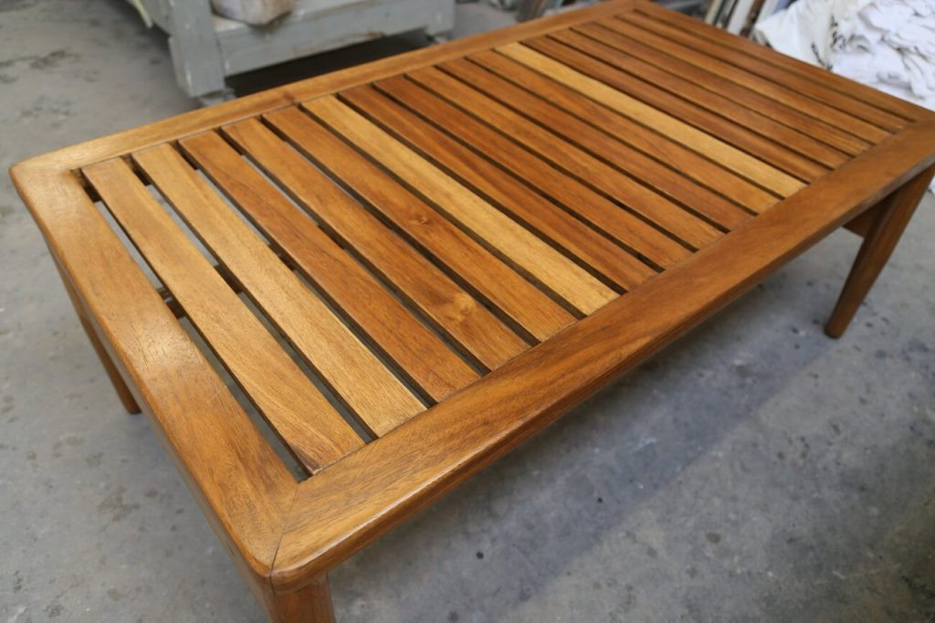 Restored table with Weather Resistant Finish