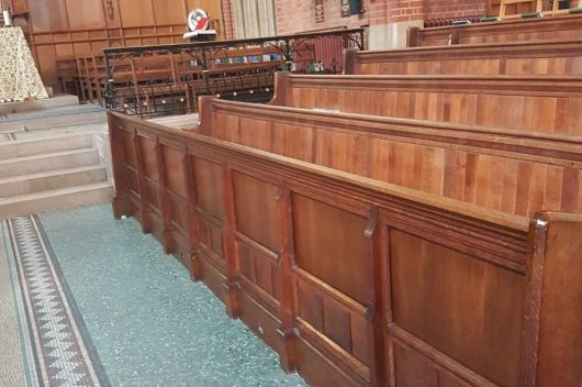 Church Interior Timber Panelling after restoration