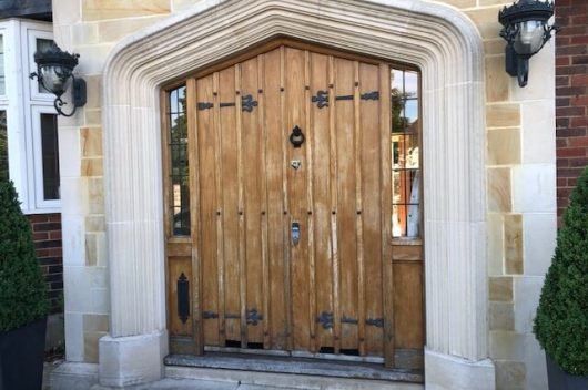 Oak doors before restoration
